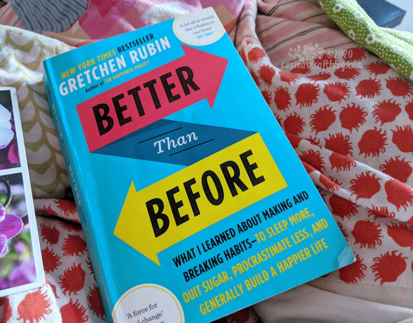Book Better Than Before on a quilt